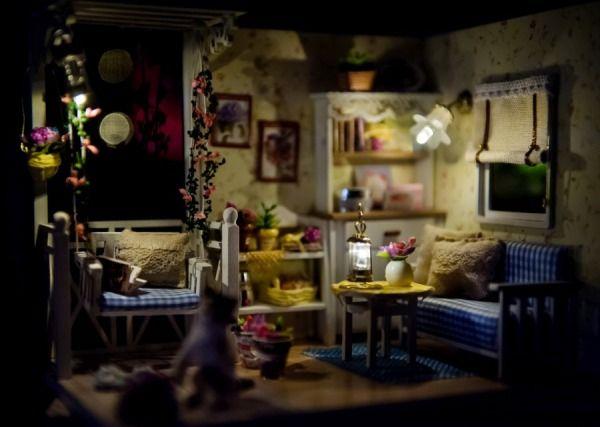 miniaturowe chatki