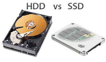 SSD a HDD