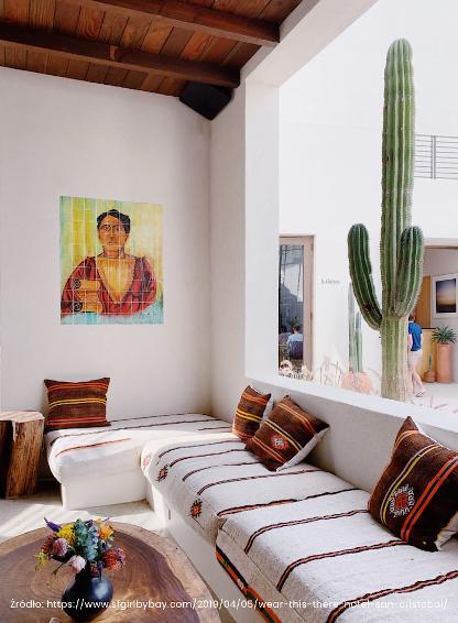 Salon w stylu meksykańskim