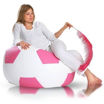 Fotele sportowe: pufy w kształcie piłek