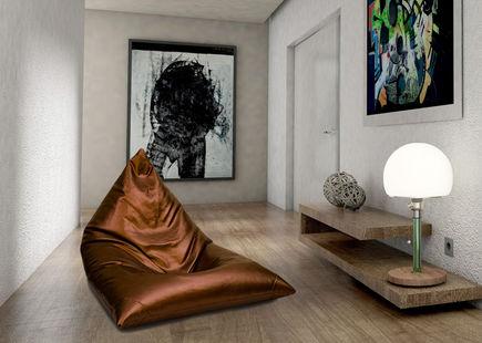 Dekoracyjne pufy i fotele w stylu industrialnym