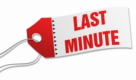 First minute vs lastminute