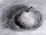 Prosty rysunek jabłka