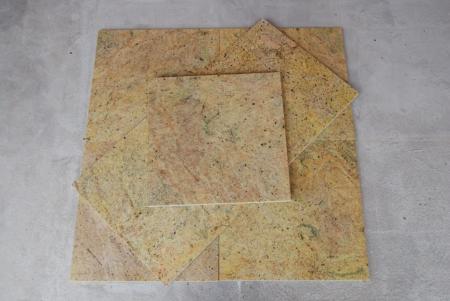 Płomieniowane płytki granitowe Cashmir Gold