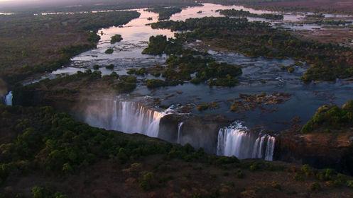 Wodospad Wiktorii z góry