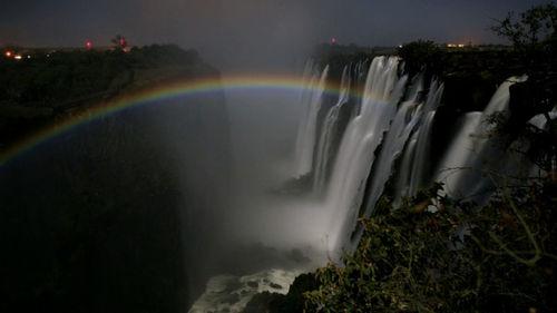 Tęcza przy Wodospadzie Wiktorii