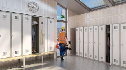 Szatnie dla pracowników budowlanych – jak pogodzić rentowność z komfortem i BHP?