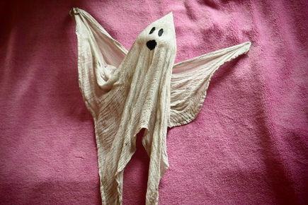 Dekoracje na Halloween przygotowane przez dzieci