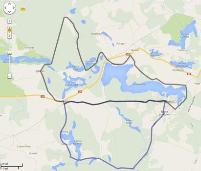 Mapy rowerowe w Google Map