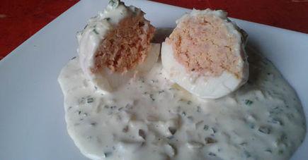 Jajka faszerowane kiełbasą