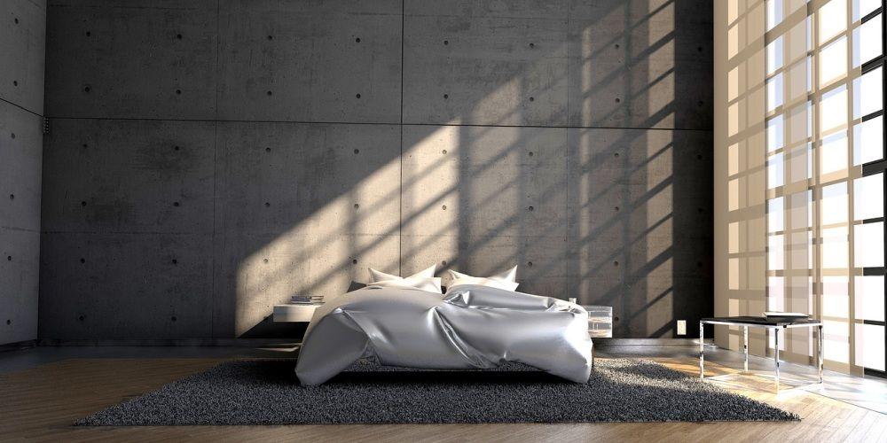 Nowoczesne wnętrze - farba imitująca beton