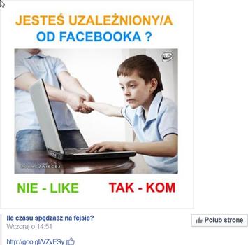 """Nowy scam:,,Ile czasu spędzasz na Facebooku?"""""""