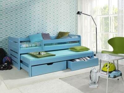 Łóżko podwójne wysuwane na kolorowo - czyli nowoczesny pokój Twojego dziecka