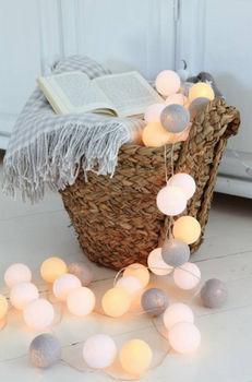 Cotton ball lights – niezwykły pomysł na dekorację