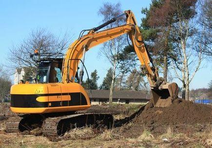 Praca operatora maszyn budowlanych, kulisy.