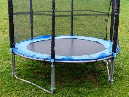 Moja przygoda z trampoliną ogrodową.
