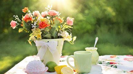 Aranżacja stołu na garden party