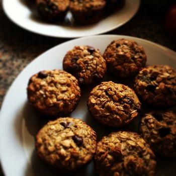 Zdrowe domowe ciasteczka owsiane