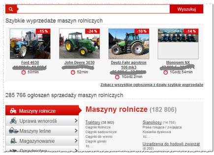 Maszyny rolnicze można kupić przez Internet