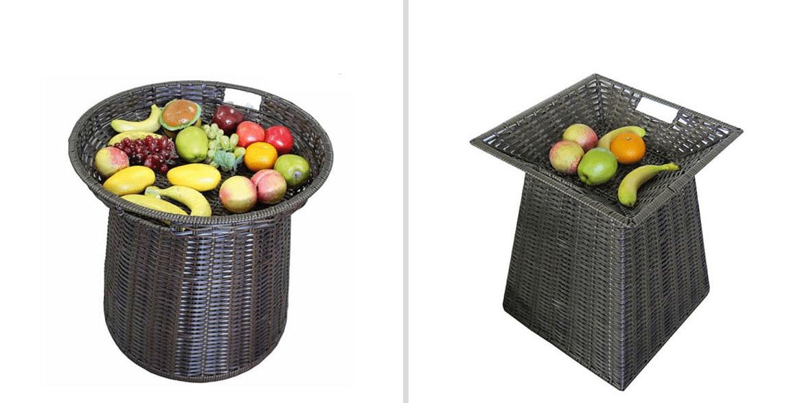 dwa kosze na owoce i warzywa