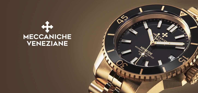 Meccaniche Veneziane Nereide Full Gold - złoto wśród zegarków